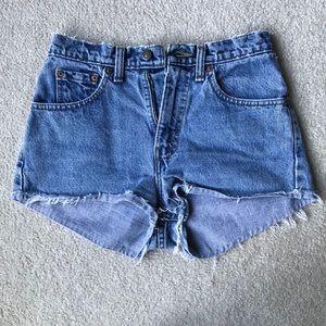 Vintage High Waist Distressed Levi Cutoff Shorts
